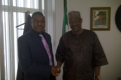 Dr. Ade Somide and Governor Abdulfatah Ahmed
