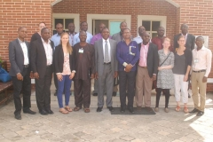 (L-‐R) Dr. Ade Somide, State University of New York, Albany, (5th); Professor Adigun Agbaje, University of Ibadan, (6th); Professor Wale Adebanwi, University of California, Davis, (7th); and other participants at a Leadership Conference held at the Obafemi Awolowo Institute for Governance and Public Policy (OAIGPP), Lagos, Nigeria.