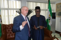 Professor Ronnie Coffman with Kwara State Governor, Dr. Abdulfatah Ahmed.